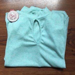 NWT SO Mint Green Long Sleeve Top with Keyhole